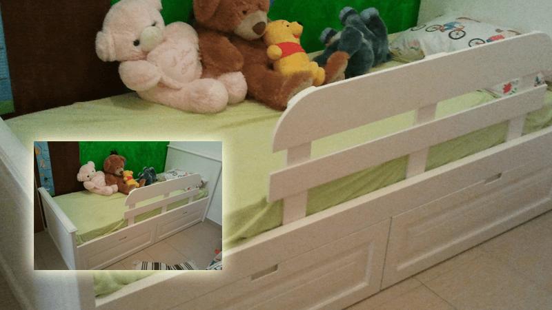 מיטה בשליף לק לילדה