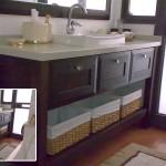 ארון אמבט בסגנון כפרי