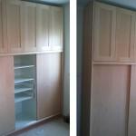 ארון משולב דלתות והזזה עץ ופורניר